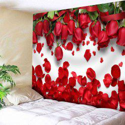 Wall Hanging Valentine's Day Roses Printed Tapestry -