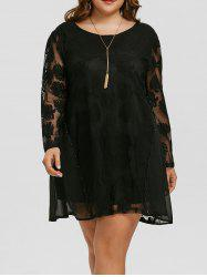 Plus Size Swing Lace Robe Vintage -