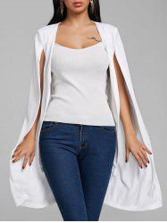 Padded Shoulder Duster Cape Coat -