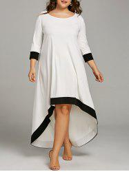 Plus Size Maxi High Low Hem Dress -