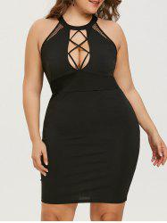 Mini Plus Size Cut Out Bodycon Dress -