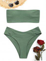 High Cut Plus Size Strapless Bikini Set -