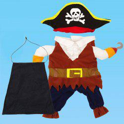 Cool Caribbean Pirate Pet Costume for Dogs Cats -