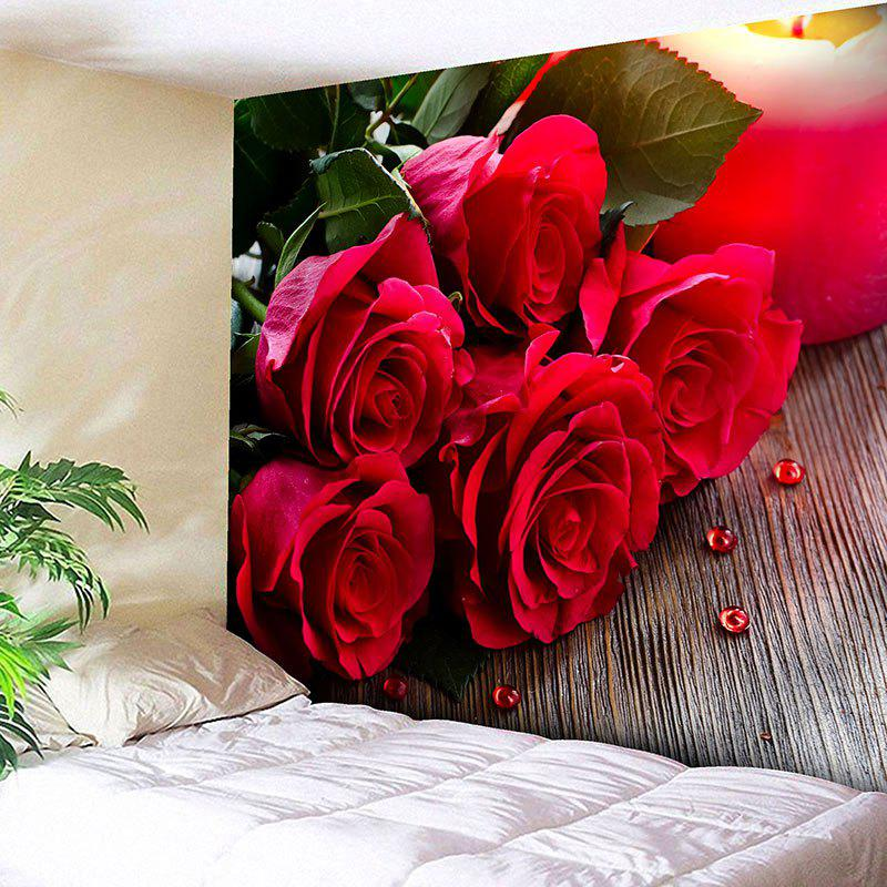 Shop Valentine's Day Rose Flowers Wall Hanging Tapestry