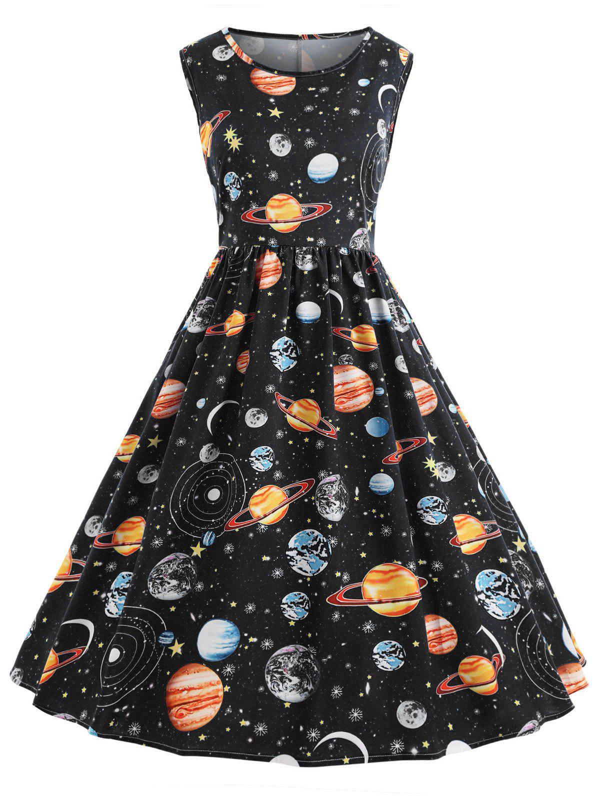 Store Vintage Planet Outer Space Dress