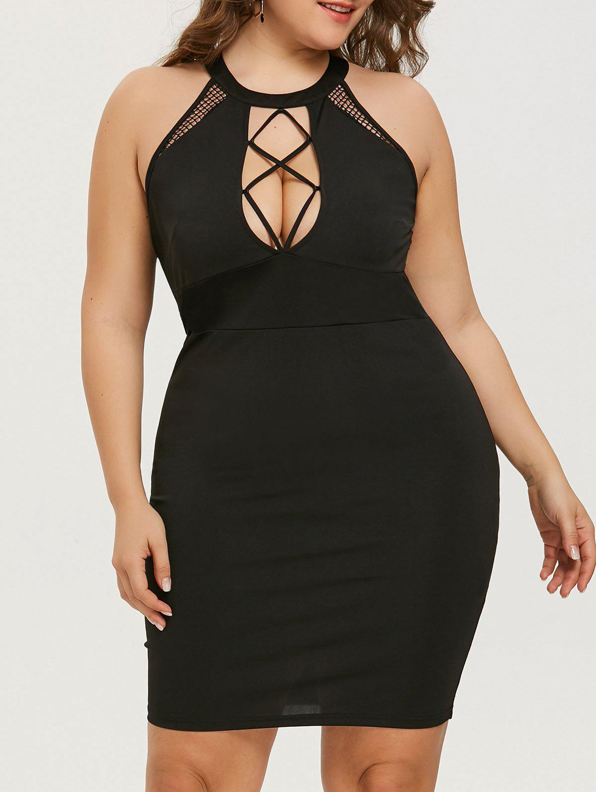 bc3d8f5fc1e57 Mini Plus Size Cut Out Bodycon Dress