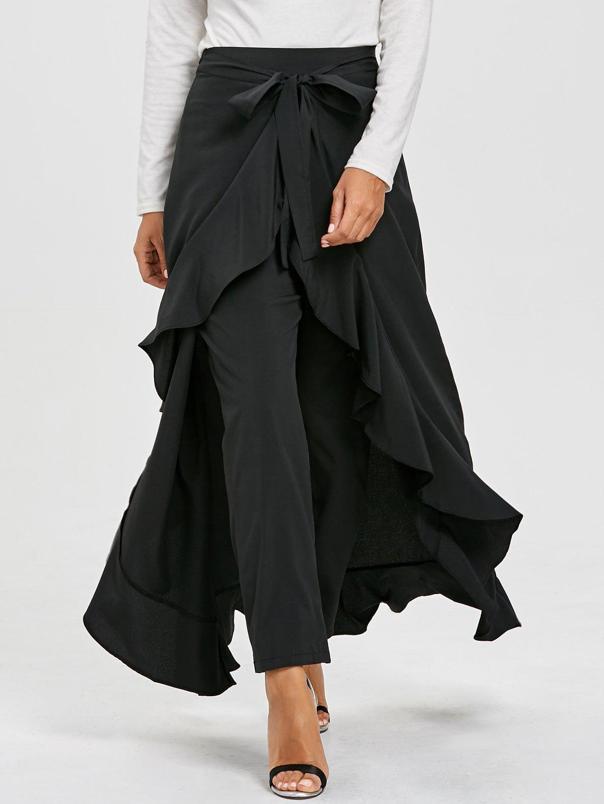 Hot Ruffle Tiered Skirt Pants