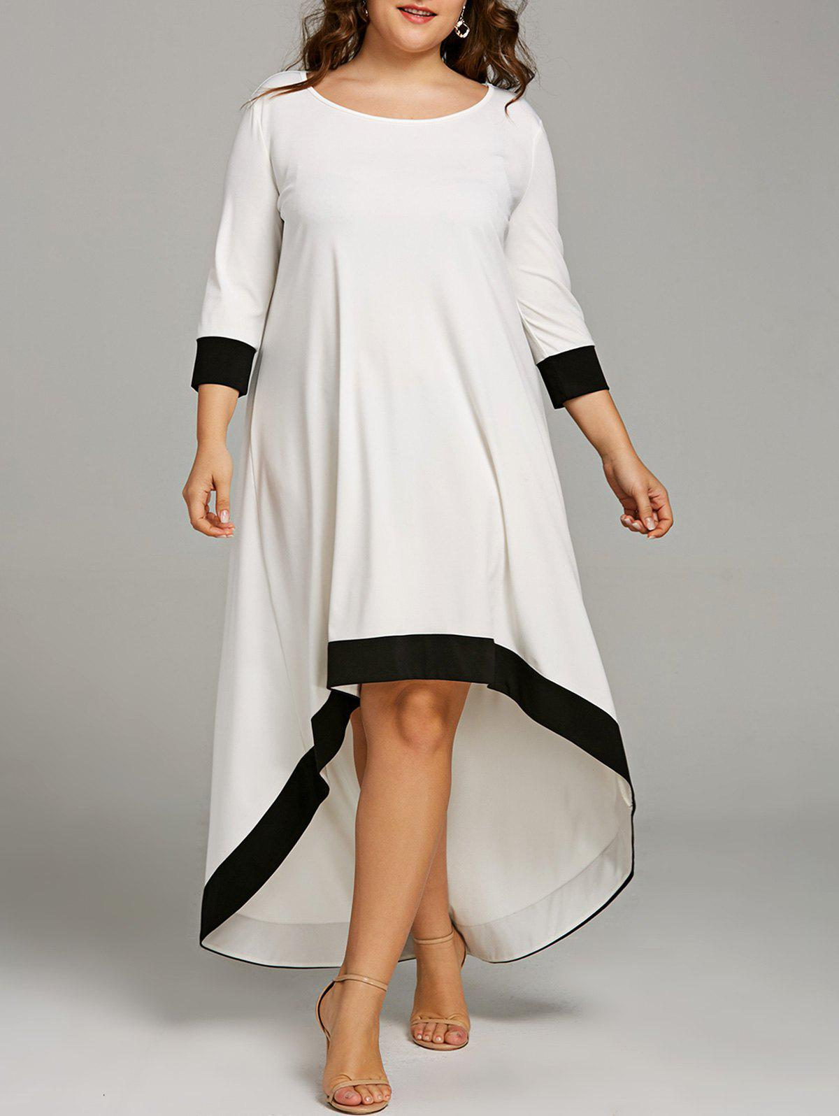Shop Plus Size Maxi High Low Hem Dress