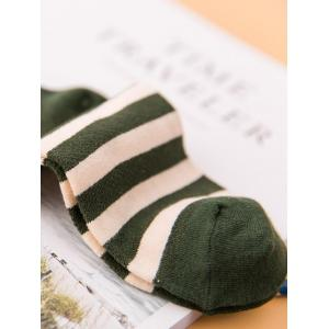 Funny Medal Embroidery Embellished Cotton Crew Socks -