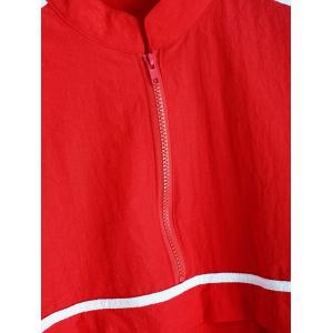 Zip Up Coupe-vent rayé -