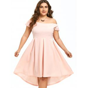Plus Size High Low Off The Shoulder Dress -
