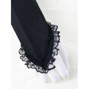 Flounced Lace Trim Arm Sleeves -