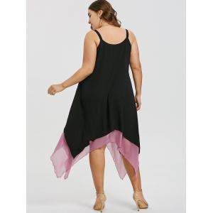 Plus Size Sleeveless Two Tone Flyaway Dress -