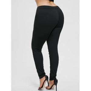 Plus Size Lace Ladder Cut Out Leggings -