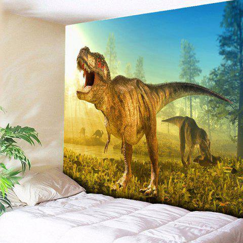 Cheap Dinosaur Foraging For Food In The Forest Print Wall Tapestry