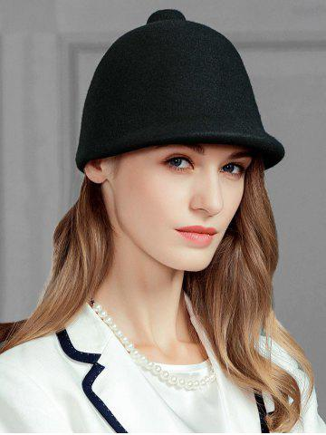 Trendy Soft Faux Wool Pointed Top Pattern Pillbox Hat