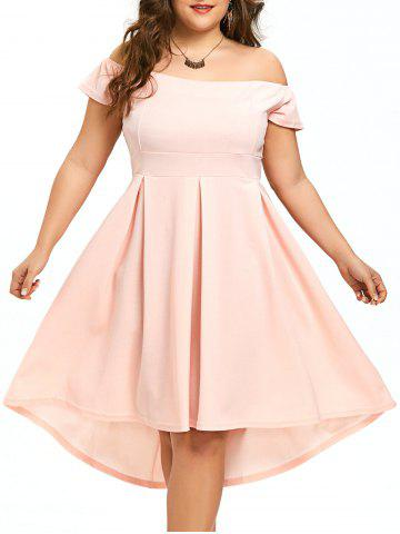 Chic Plus Size High Low Off The Shoulder Dress
