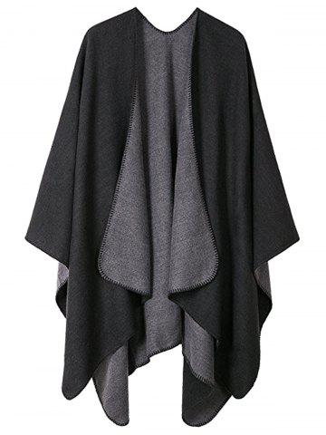 Shops Drap Front Collarless Plus Size Poncho