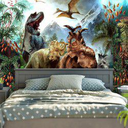 Dinosaurs World Print Wall Tapestry -