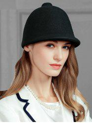 Soft Faux Wool Pointed Top Pattern Pillbox Hat -
