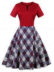 Valentine Plus Size Card Print Dress -