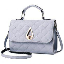 Quilted Twist Lock Flap Handbag -