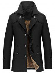 Lapel Single-Breasted Slim Jacket -