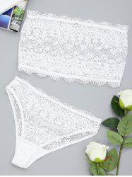 Lace Sheer Tube and Thong Set -