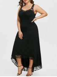 Plus Size High Low Party Maxi Dress -