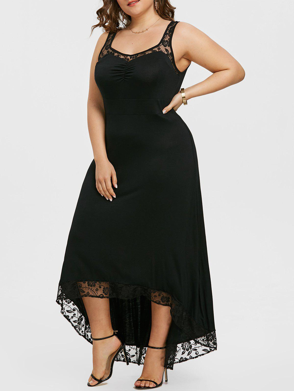 Hot Plus Size High Low Party Maxi Dress