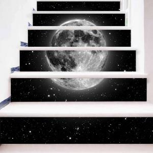 3D Planet Print DIY Decorative Stair Stickers -