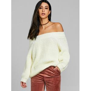 Off Плечо Raglan Sleeve Chunky Sweater -