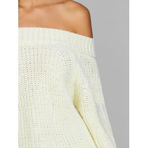 Off The Shoulder Raglan Manches Chunky Pull -