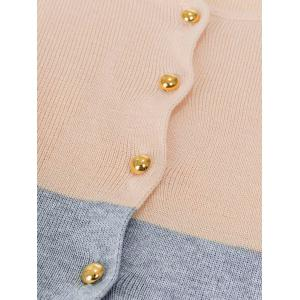 Contrast Color Button Up Cardigan -