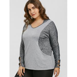 Hooded Color Block Plus Size Sports Top -