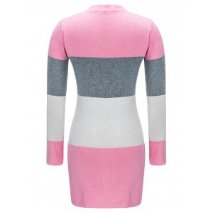 Color Block Open Front Cardigan -