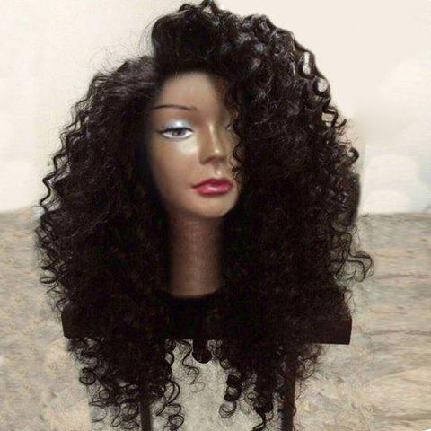 Store Long Side Parting Fluffy Deep Wave Lace Front Synthetic Wig