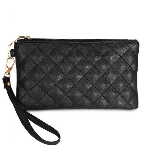 Cheap PU Leather Quilted Wristlet