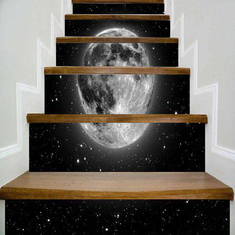 Fancy 3D Planet Print DIY Decorative Stair Stickers