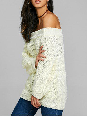 Off Плечо Raglan Sleeve Chunky Sweater