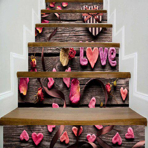 Sale Love Petal Pattern Stair Riser Stickers