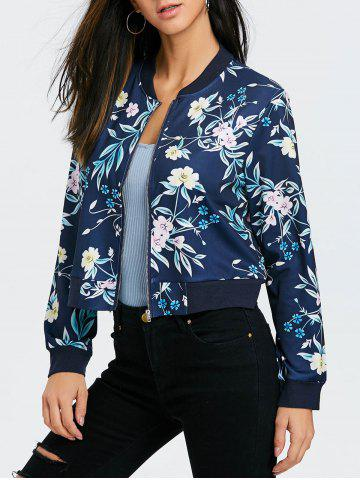 Cheap Floral Print Bomber Jacket