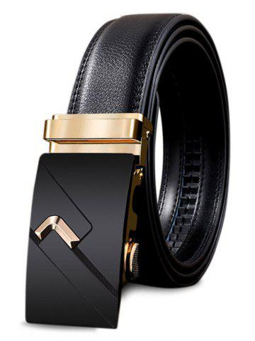 Trendy Vintage Automatic Buckle Faux Leather Wide Belt