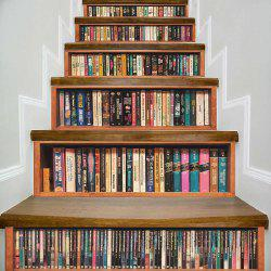 Bookshelf Pattern DIY Decorative Stair Stickers -