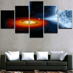 Starry Earth Universe Pattern Wall Art Canvas Paintings -
