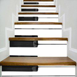Piano Keyboard Pattern Escalier Riser Autocollants -