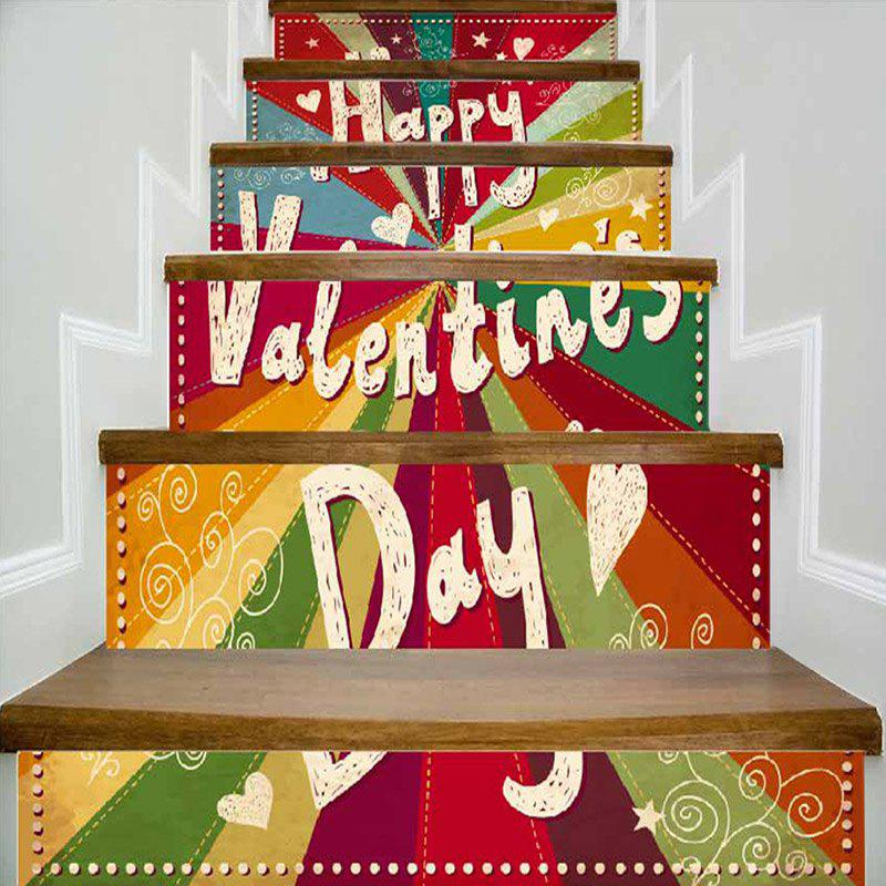 Hot Valentine's Day Colorful Stair Riser Stickers