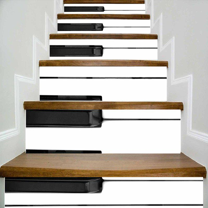 Piano Keyboard Pattern Escalier Riser Autocollants