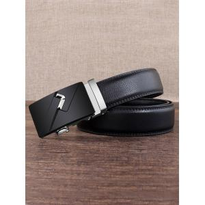 Vintage Automatic Buckle Faux Leather Wide Belt -