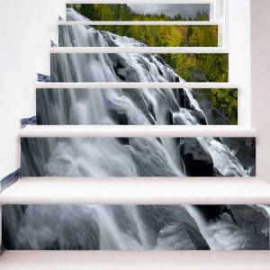 Waterfall Print DIY Decorative Stair Stickers -